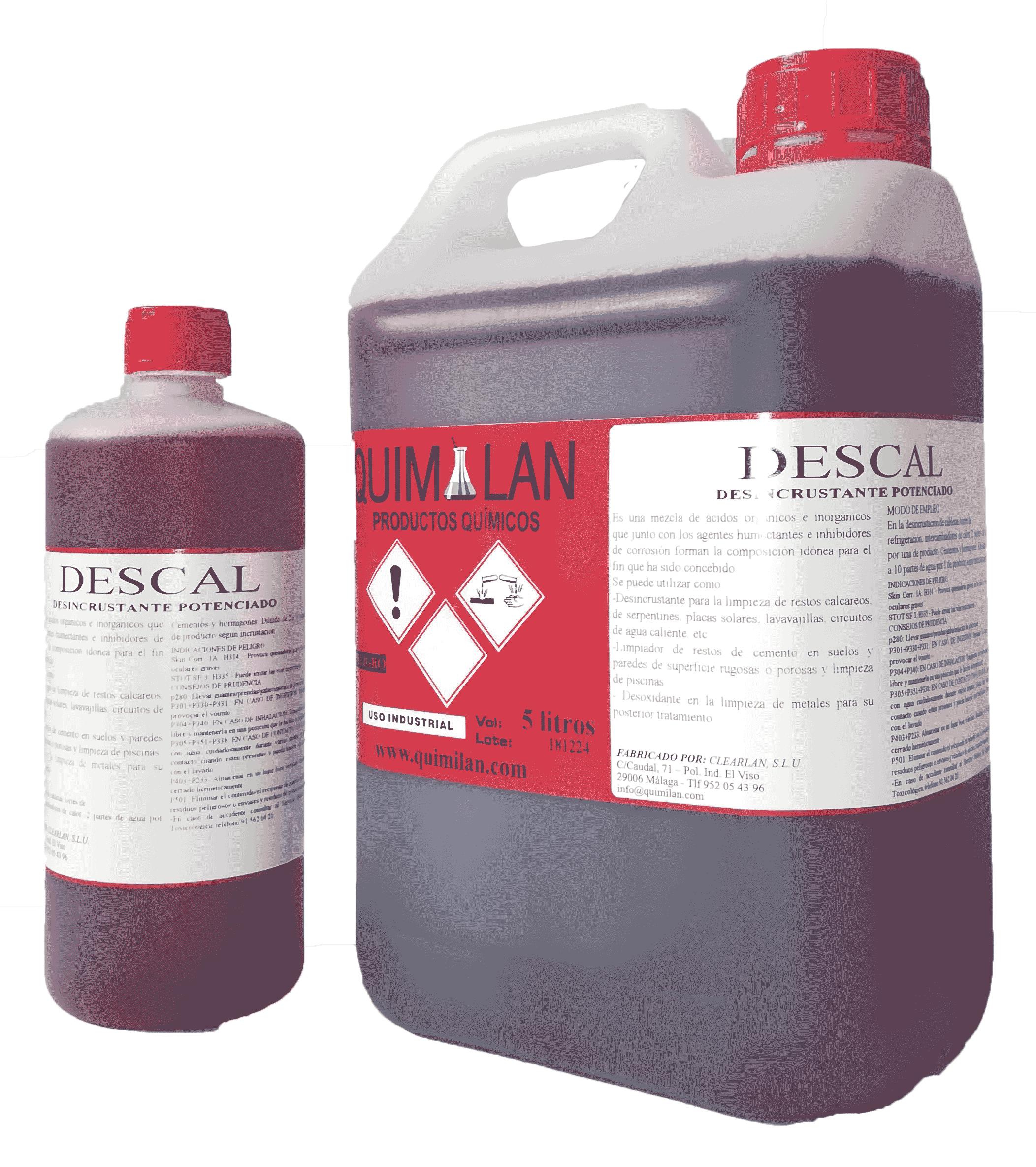 Productos Quimicos Industriales Quimilan Descal en Malaga