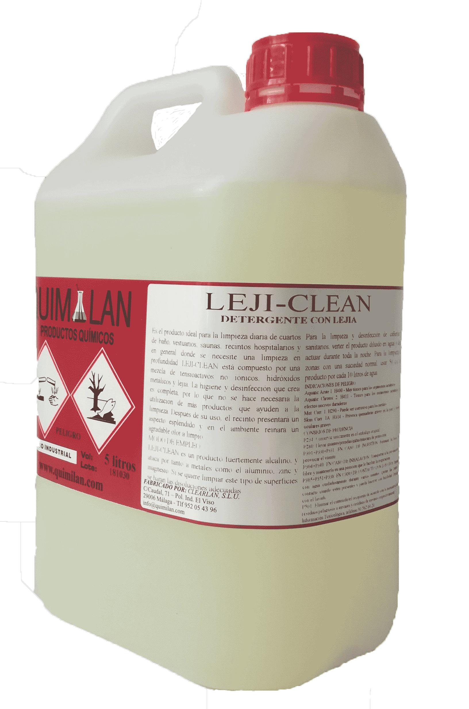 Productos Quimicos Industriales Lejiclean Quimilan en Malaga