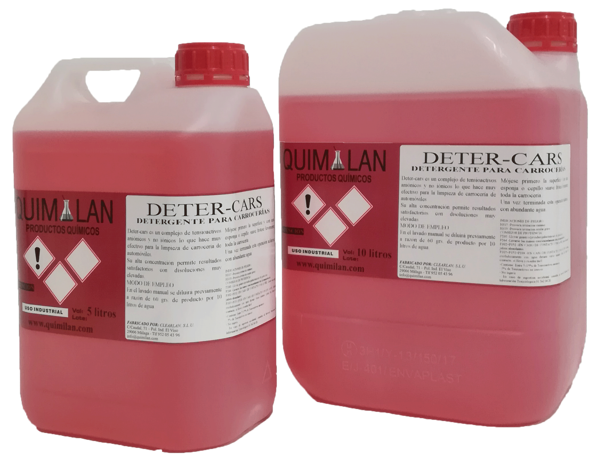 Productos Quimicos Limpieza Detercar Quimilan en Malaga